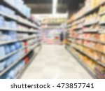 abstract blur supermarket and... | Shutterstock . vector #473857741