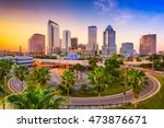 tampa  florida  usa downtown... | Shutterstock . vector #473876671