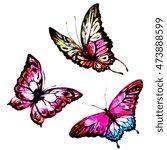 butterflies design | Shutterstock . vector #473888599