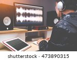 sound engineer  audio editor... | Shutterstock . vector #473890315