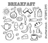 breakfast food or icons using... | Shutterstock .eps vector #473891395