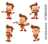 vector cartoon set of cute... | Shutterstock .eps vector #473894305