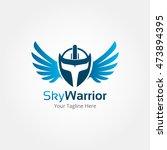 sky warrior logo template | Shutterstock .eps vector #473894395