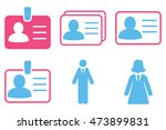 person account card vector...