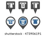 atm map marker vector icons.... | Shutterstock .eps vector #473906191