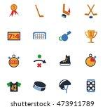 hockey web icons for user... | Shutterstock .eps vector #473911789
