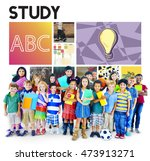 study learning studying... | Shutterstock . vector #473913271