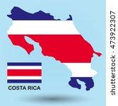 costa rica flag map | Shutterstock .eps vector #473922307