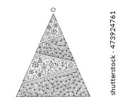 christmas geometric tree... | Shutterstock .eps vector #473924761