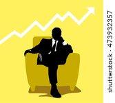relaxing manager concept vector ... | Shutterstock .eps vector #473932357