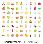 set of food concepts.  | Shutterstock . vector #473941861