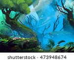 the entrance of mystery valley... | Shutterstock . vector #473948674