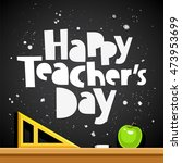 happy teacher's day. trend... | Shutterstock .eps vector #473953699