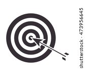 target with arrow strategy game ... | Shutterstock .eps vector #473956645