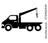 car towing truck tow service... | Shutterstock .eps vector #473960449