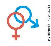 gender male female signs symbol ... | Shutterstock .eps vector #473966965