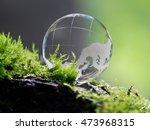 larglarge clear glass ball