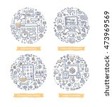 doodle vector illustrations of... | Shutterstock .eps vector #473969569