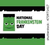 Happy Frankenstein Day Vector...