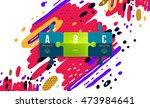trendy geometric flat pattern ...   Shutterstock .eps vector #473984641
