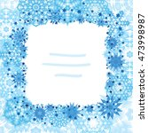 snowflake square border with...   Shutterstock .eps vector #473998987