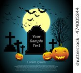 halloween pumpkin. | Shutterstock .eps vector #474005344