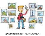 a likable tourist with a... | Shutterstock .eps vector #47400964