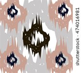 ikat ogee background pattern | Shutterstock .eps vector #474016981