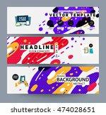 banners set  trendy geometric... | Shutterstock .eps vector #474028651