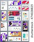 annual report brochure template ... | Shutterstock .eps vector #474028825