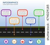 infographics template with... | Shutterstock . vector #474029185