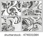set of four abstract background ... | Shutterstock . vector #474031084