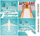 airport bitmap concepts set in...   Shutterstock . vector #474042385