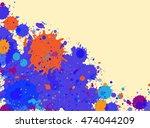 vibrant bright blue and orange...   Shutterstock . vector #474044209