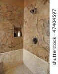 modern bathroom with a... | Shutterstock . vector #47404597