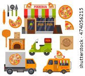 pizzeria  pizza delivery and... | Shutterstock .eps vector #474056215