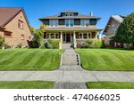 nice curb appeal of american... | Shutterstock . vector #474066025