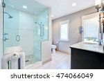 refreshing bathroom with large... | Shutterstock . vector #474066049