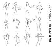 stick wariors | Shutterstock .eps vector #474079777