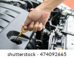 check the oil level in car... | Shutterstock . vector #474092665