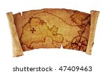 old treasure map  isolated on... | Shutterstock . vector #47409463