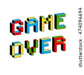 game over text in style of old... | Shutterstock .eps vector #474096694