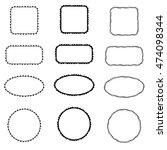 doodle ink frames   vector   Shutterstock .eps vector #474098344