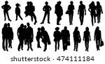 large collection of black... | Shutterstock .eps vector #474111184