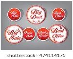 red circle tag  sticker... | Shutterstock .eps vector #474114175