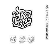 web line icon. small intestine | Shutterstock .eps vector #474114739