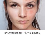 before and after cosmetic... | Shutterstock . vector #474115357