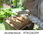 bee keeper with bee colony | Shutterstock . vector #474126259