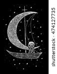 skeletons world  illustration... | Shutterstock . vector #474127735
