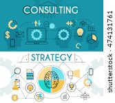 simple strategy and consulting... | Shutterstock .eps vector #474131761